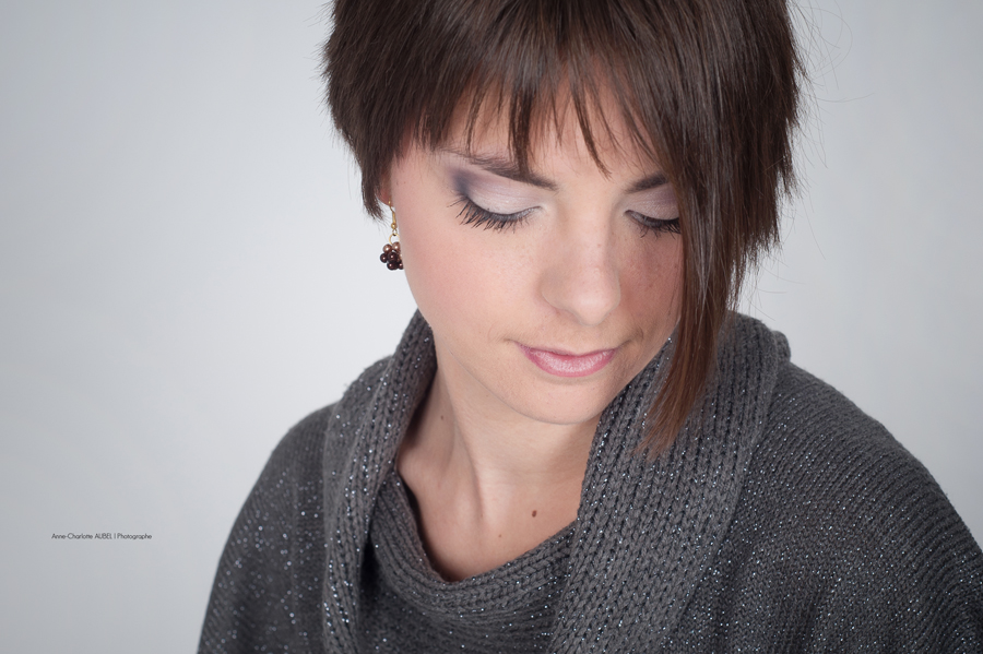 shooting studio portrait | make up | Floriane