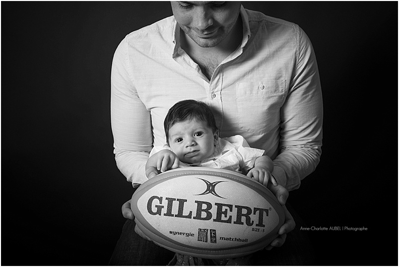 bébé ballon rugby