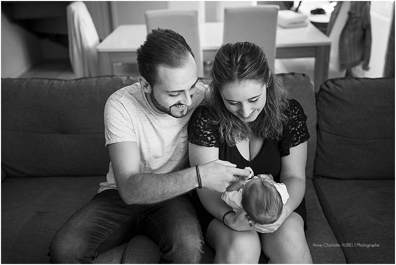 séance photo bébé à domicile – Photographe Yvelines – Gabin