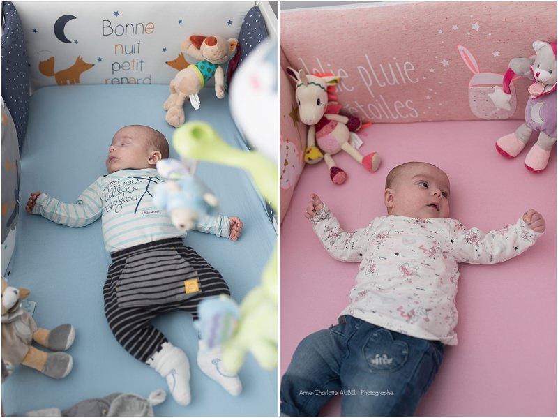 séance photo jumeaux à la naissance